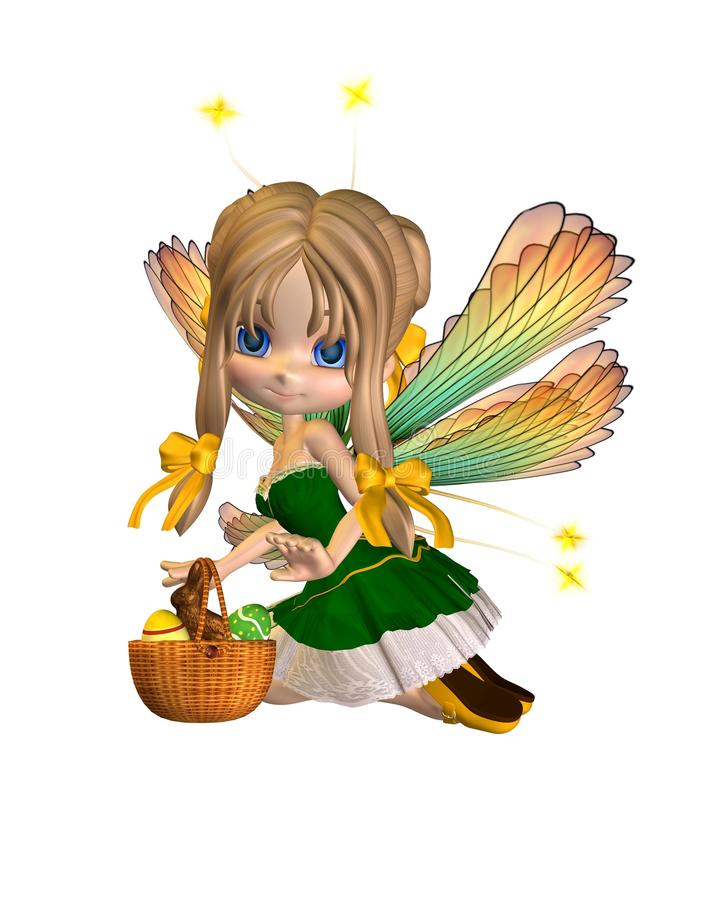 Free Cute Toon Easter Fairy - 2 Stock Photos - 13642153