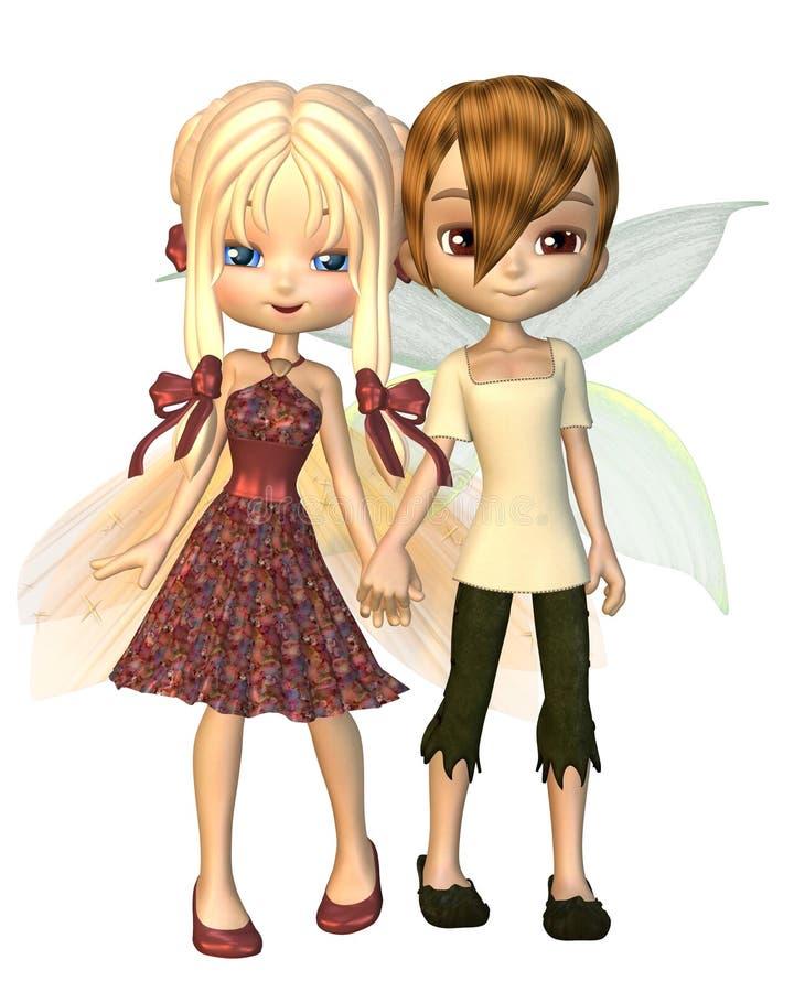 Cute Toon Fairy Friends vector illustration