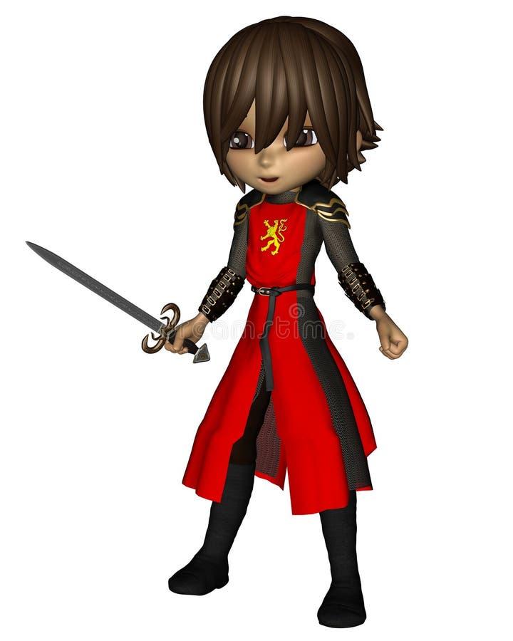 Cute Toon Knight - 2 vector illustration