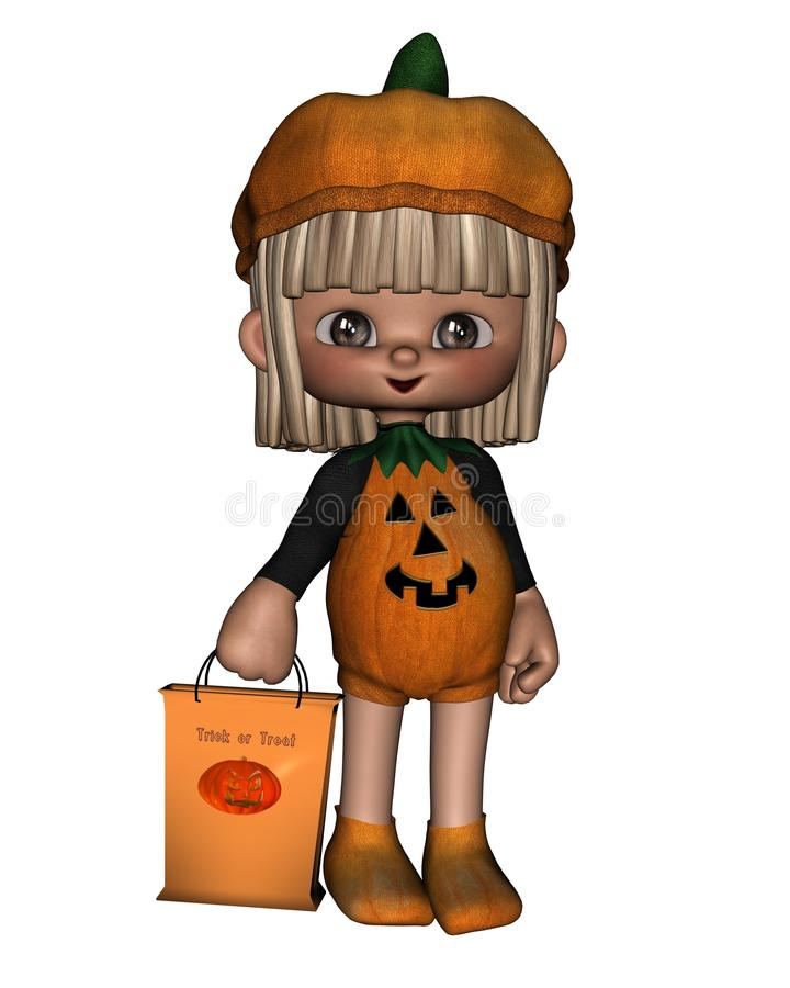 Download Cute Toon Trick-or-Treater stock illustration. Illustration of treat - 11415631