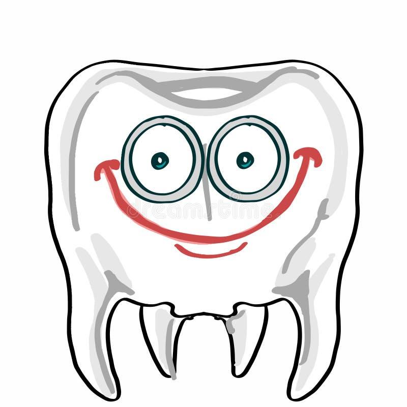 Cute tooth illustration cartoon drawing coloring. Cute tooth drawing and cartoon coloring drawing royalty free illustration