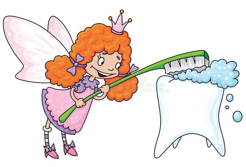 Download Cute tooth fairy stock vector. Image of cartoon, fantasy - 17001559