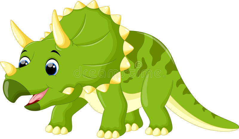 Stock Illustration Cute Triceratops Cartoon Illustration Image61767480 on Baby Dinosaurs