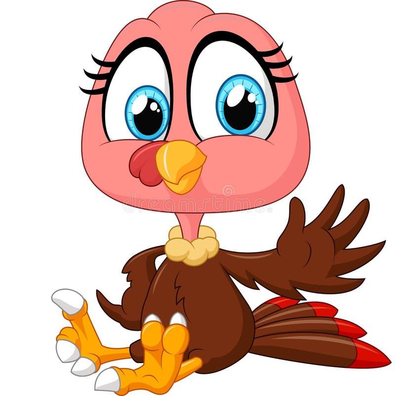 Cute turkey cartoon royalty free illustration