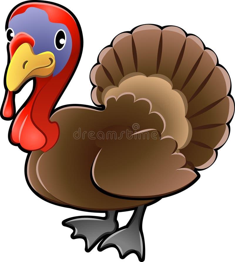 Cute Turkey Farm Animal Vector royalty free illustration