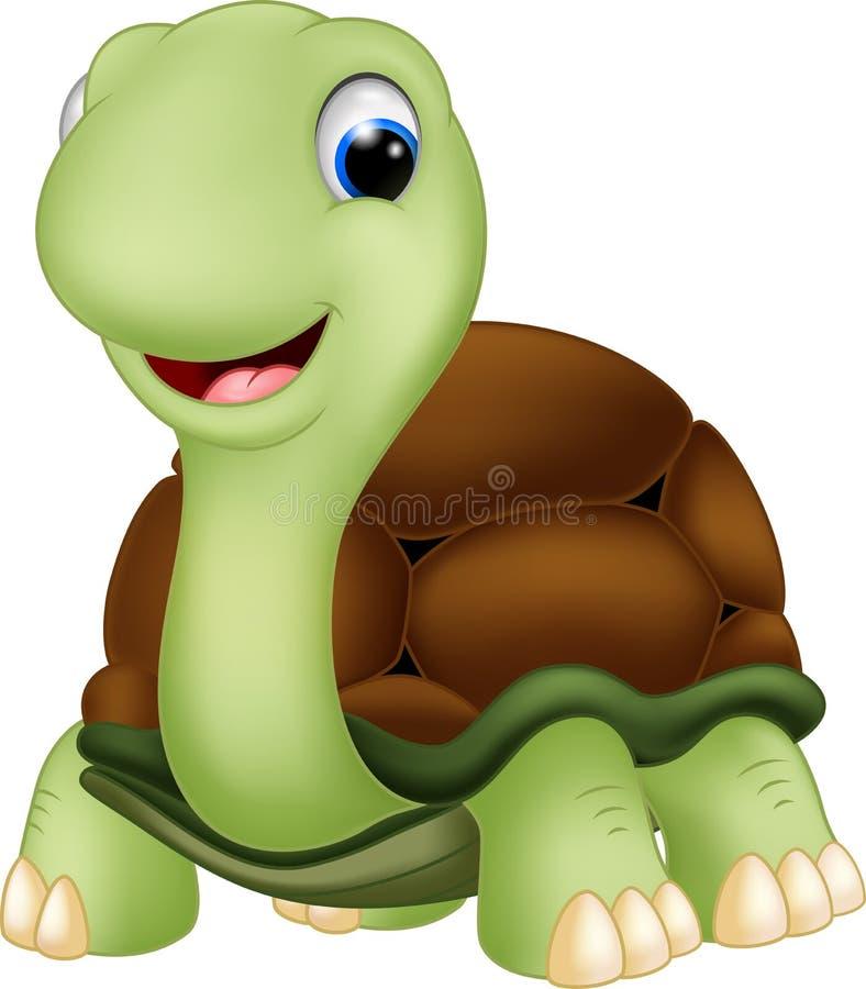 Cute turle cartoon. Illustration of Cute turle cartoon royalty free illustration