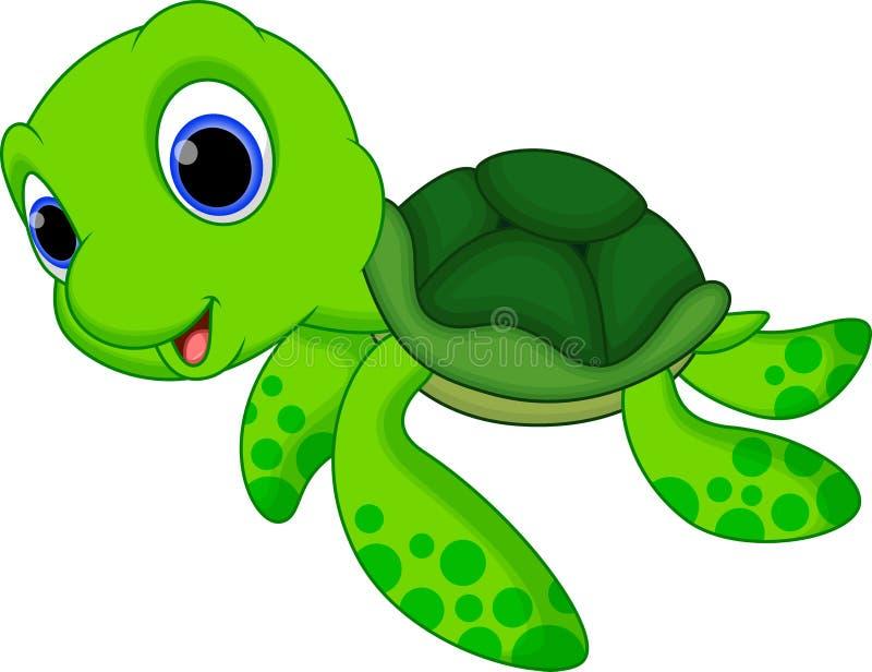 Cute turtle cartoon stock illustration