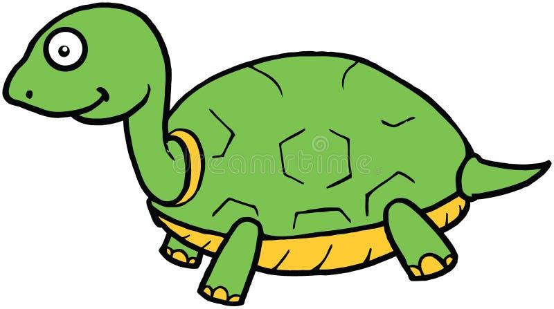 Cute Turtle Cartoon Illustration royalty free stock photography