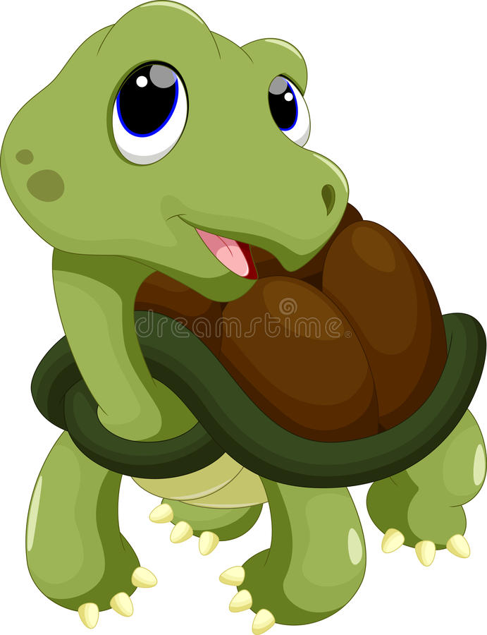 Cute turtle cartoon stock illustration of
