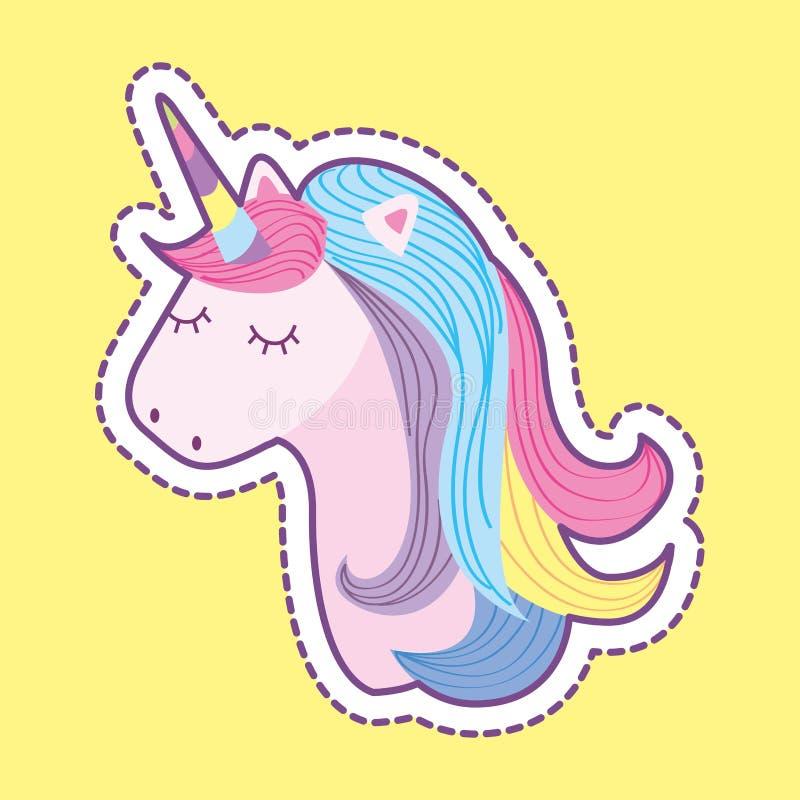 Cute unicorn fantasy cartoon royalty free illustration