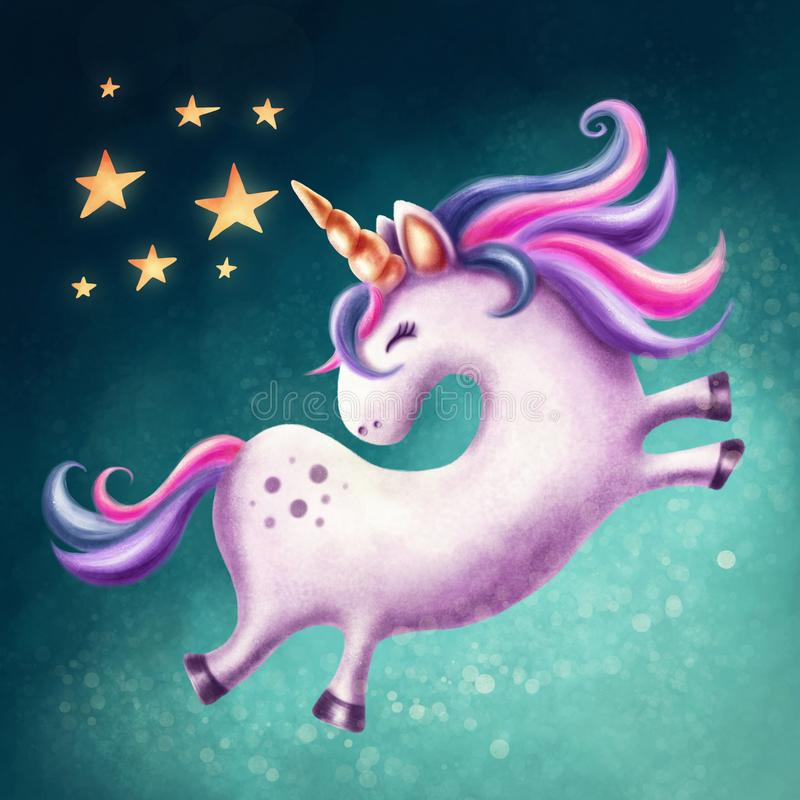 Download Cute unicorn stock illustration. Illustration of character - 114082419