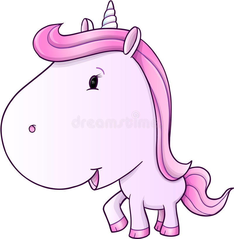 Cute Unicorn Pony Vector stock vector. Illustration of
