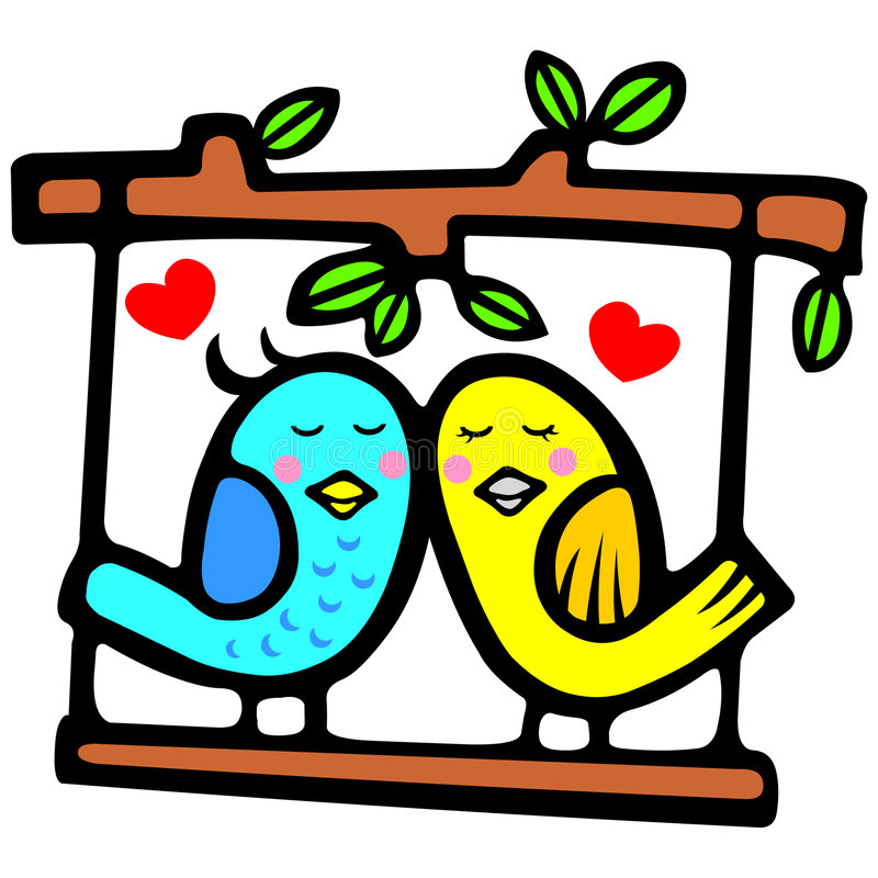 Cute valentine bird stock illustration