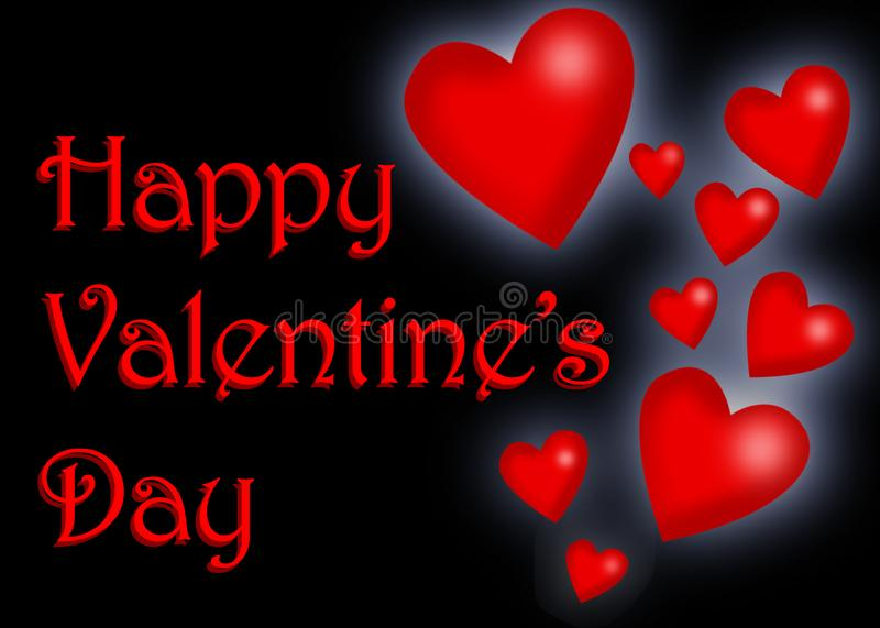 Cute valentine`s day card stock image