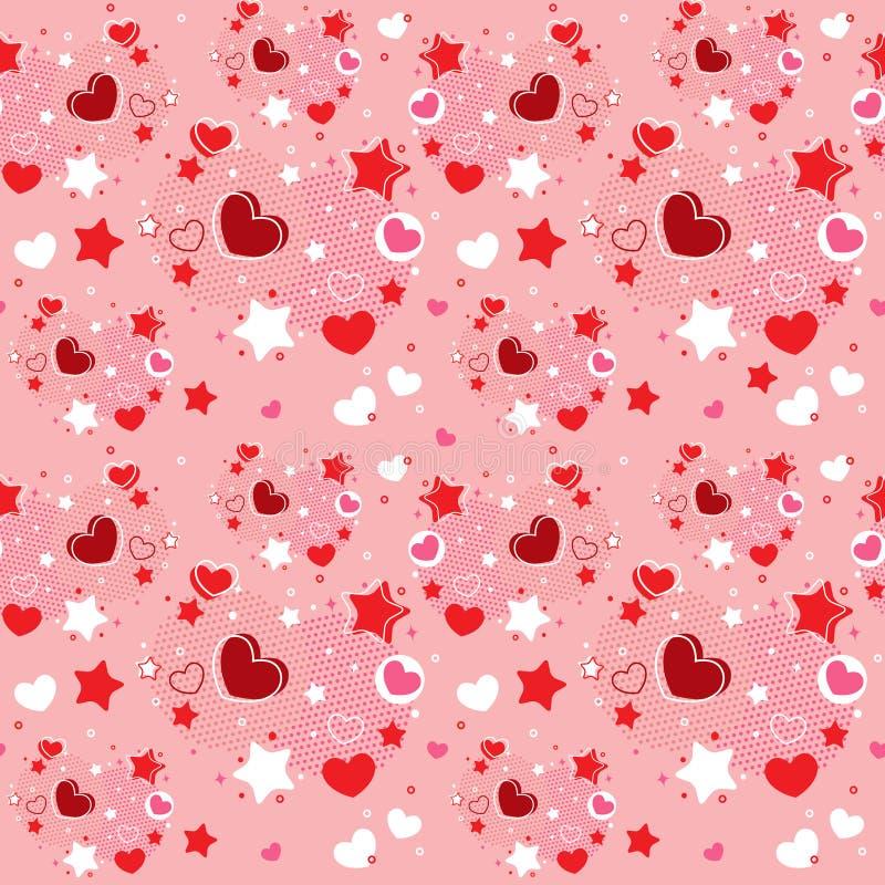Cute Valentine seamless pattern vector illustration