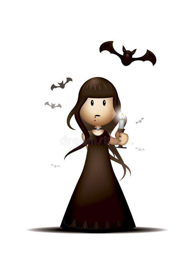Free Cute Vampire Girl Royalty Free Stock Photos - 158253898