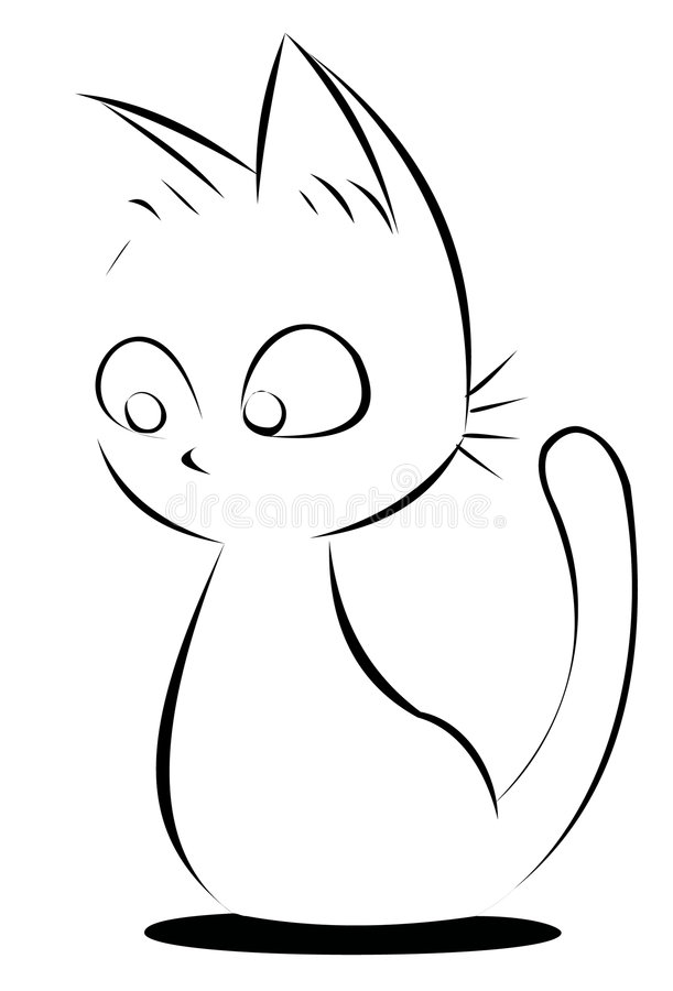 Cute vector cat royalty free illustration