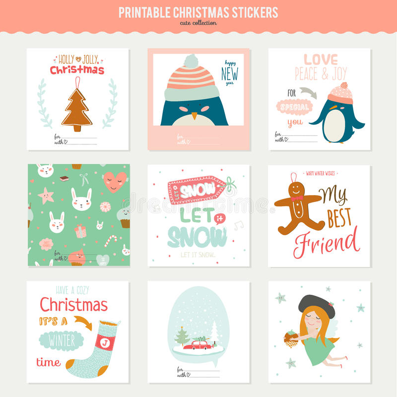Cute vector christmas cards and stickers stock vector illustration download cute vector christmas cards and stickers stock vector illustration of background celebration m4hsunfo