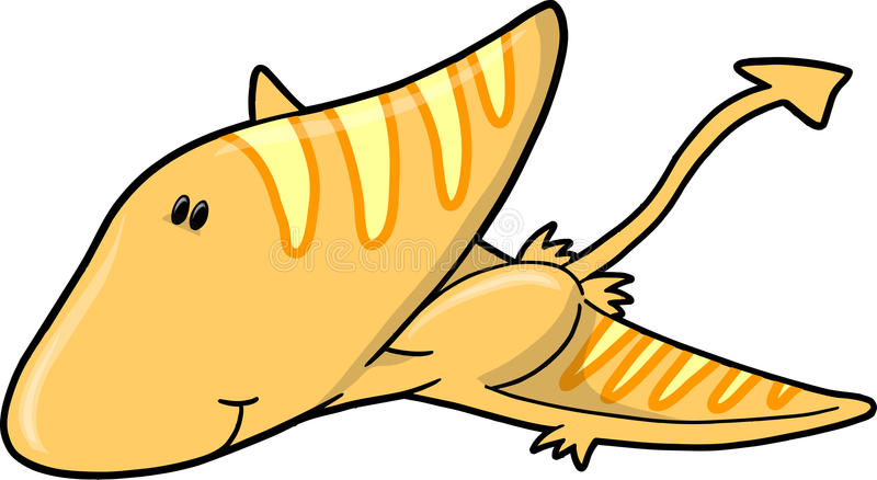 Cute Vector Dinosaur Stock Images
