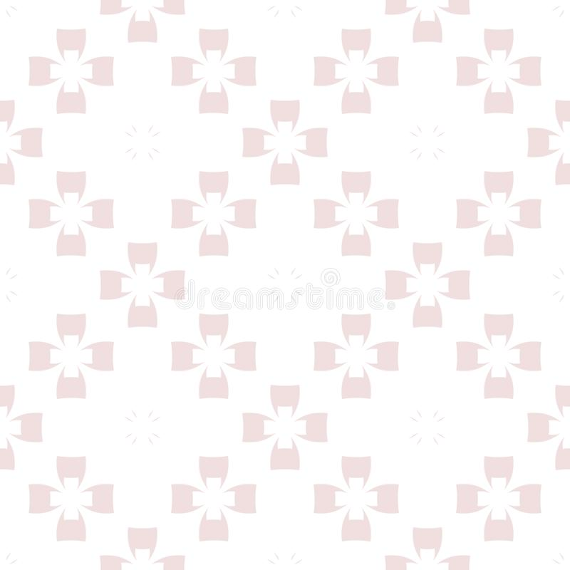 Cute vector geometric texture. Abstract floral seamless pattern. Pink and white stock illustration