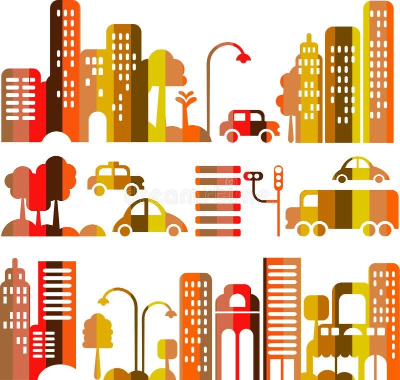 Free Cute Vector Illustration Of An Evening City Street Stock Photos - 12921413