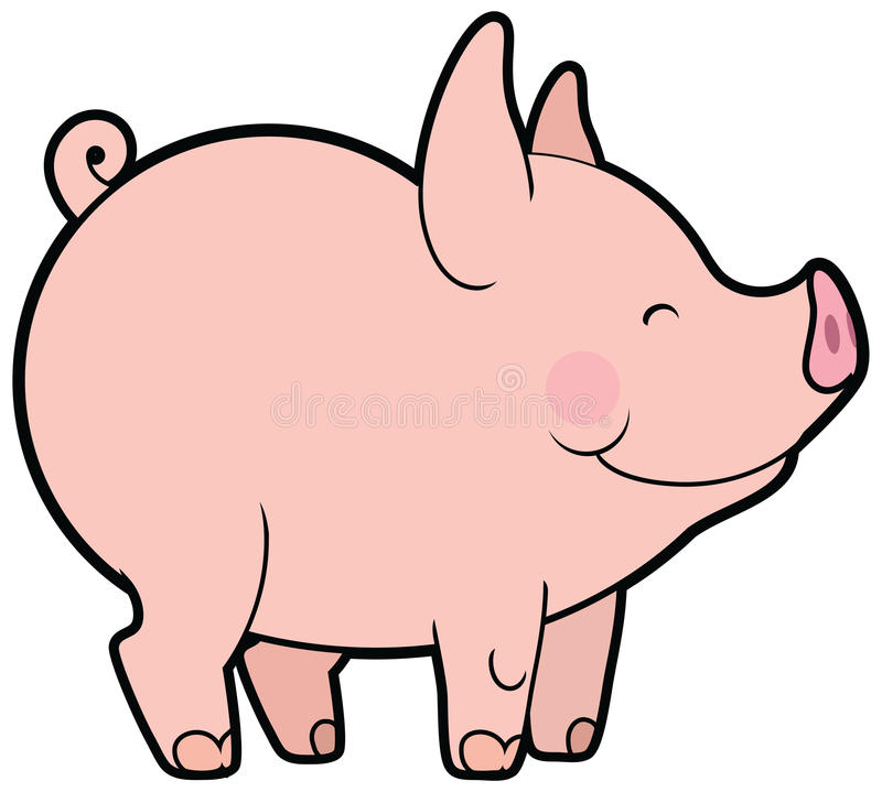 cute vector little pig stock vector illustration of concept 45640931 rh dreamstime com pig vector art pig vector free