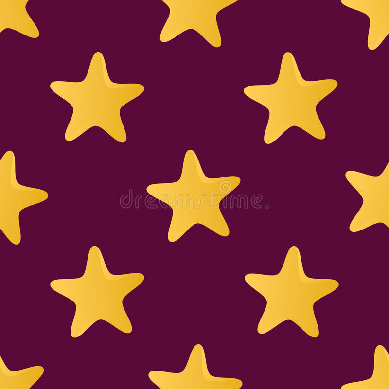 Cute vector seamless pattern (tiling) made of stars vector illustration