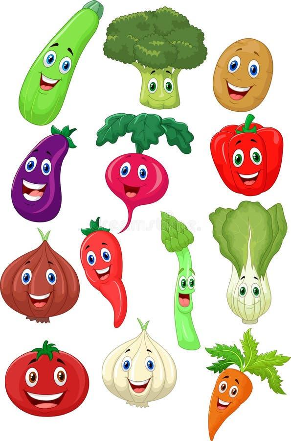 Cute vegetable cartoon character vector illustration