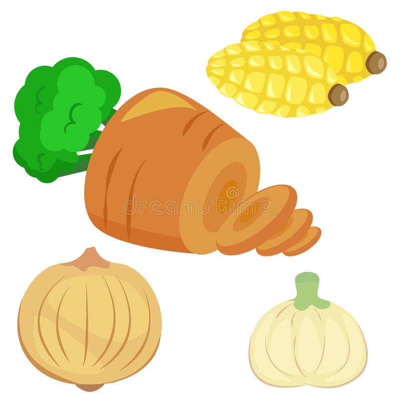 Download Cute Vegetable Collection 02 Stock Vector - Image: 27655515