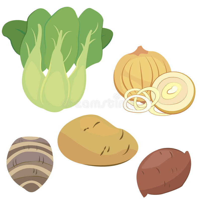 Download Cute Vegetable Collection 03 Stock Vector - Illustration: 27655512