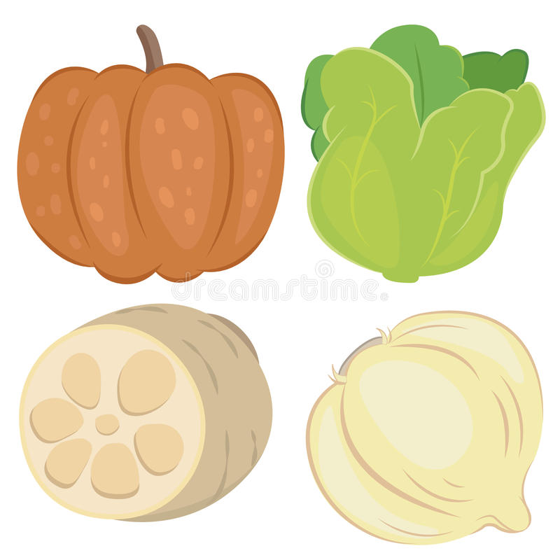 Cute Vegetable Collection 06 Stock Image