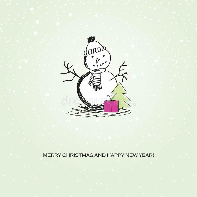 Cute vintage christmas card stock illustration