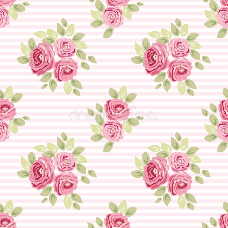 Cute vintage seamless shabby chic floral patterns for your decoration vector illustration