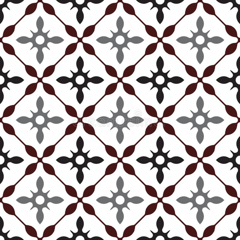 Cute vintage tiled design royalty free stock photo