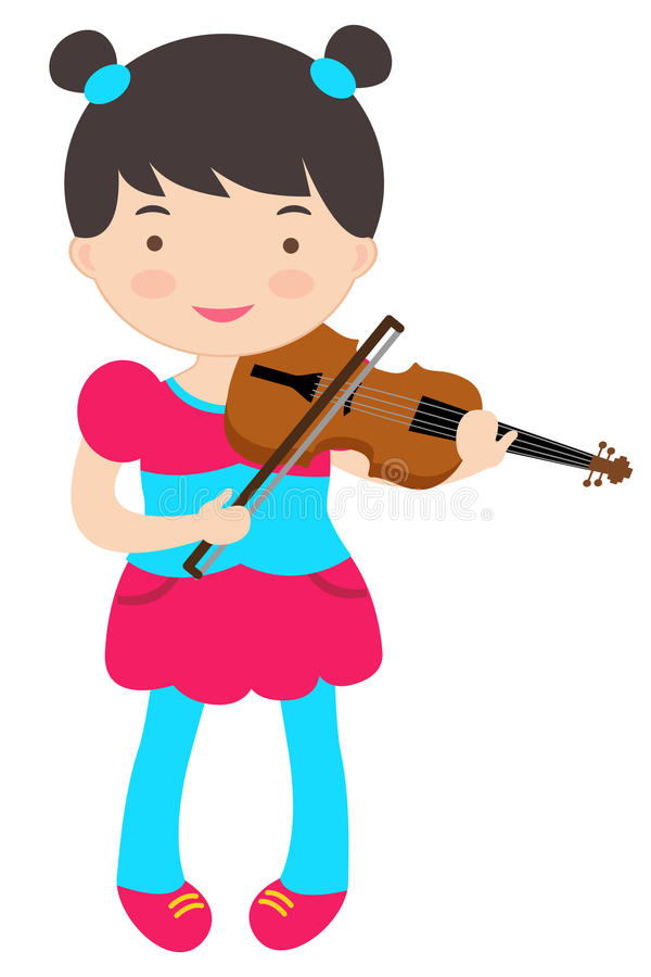 Cute violinist. An illustration of cute violinist vector illustration