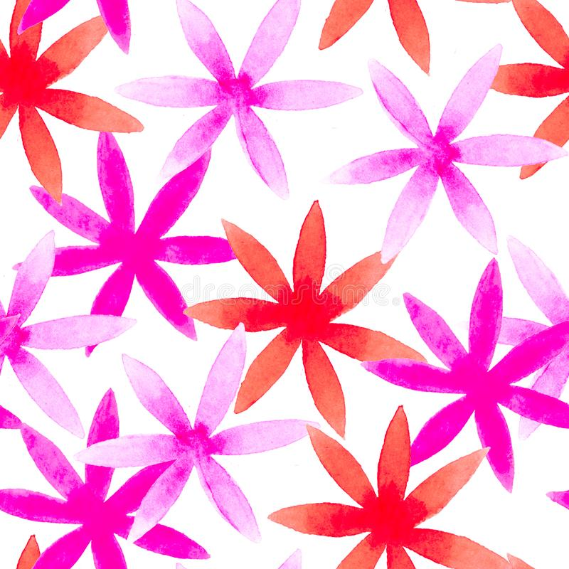 Free Cute Watercolor Floral Seamless Pattern. Pink Boho Stock Photography - 132216942