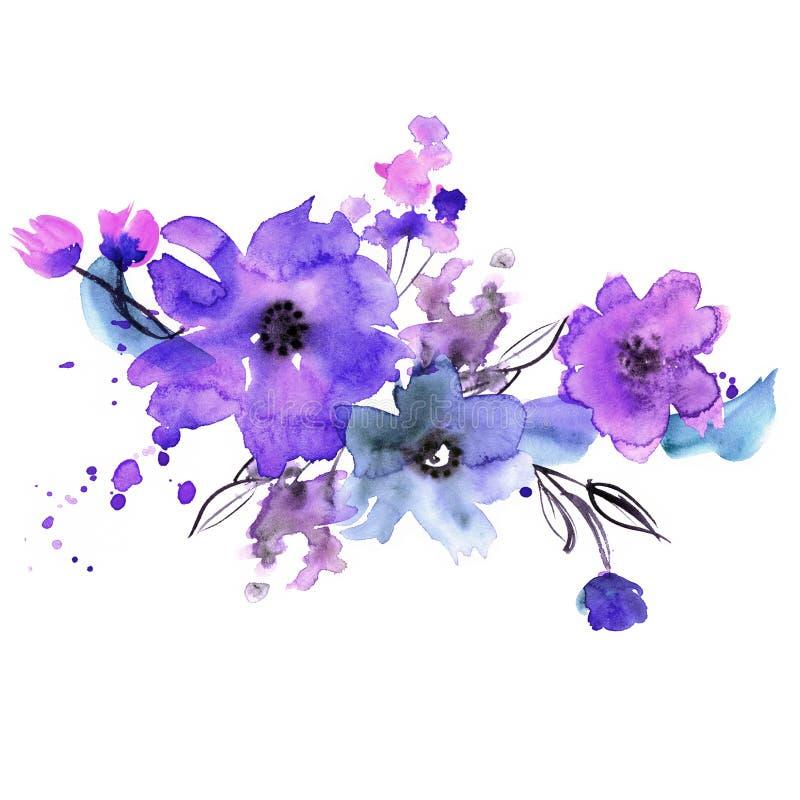 Cute watercolor hand painted flowers stock illustration download cute watercolor hand painted flowers stock illustration illustration of beautiful strokes bookmarktalkfo Gallery