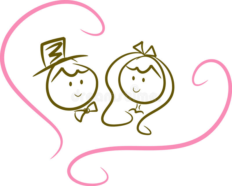 Cute wedding couple (VI)
