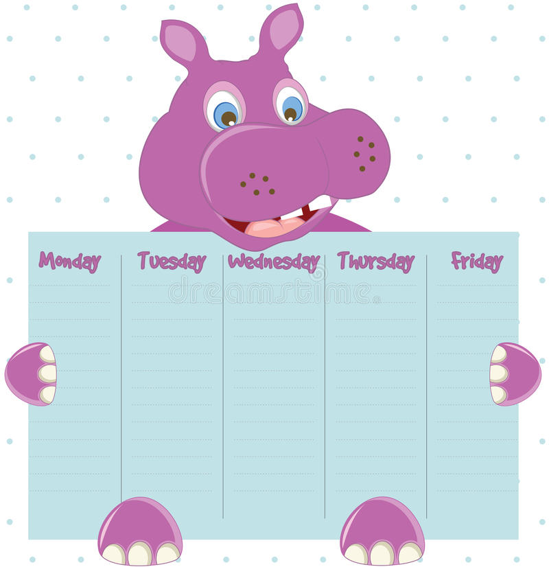 Cute Weekly Planner Stock Vector Illustration Of Print 68791254