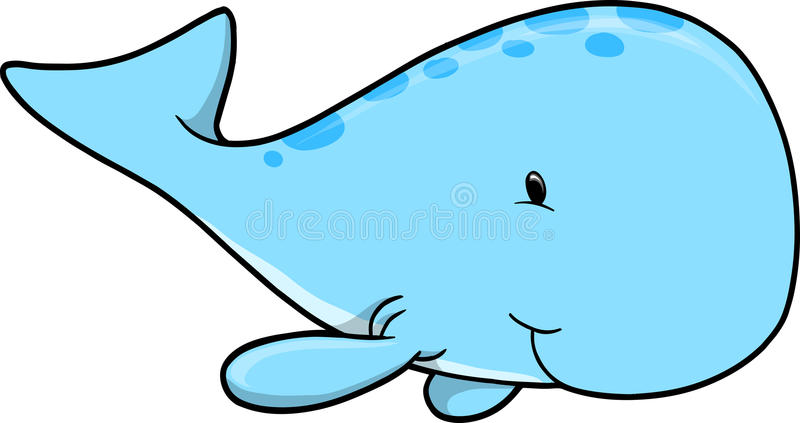 cute whale vector illustration stock vector illustration of whale rh dreamstime com