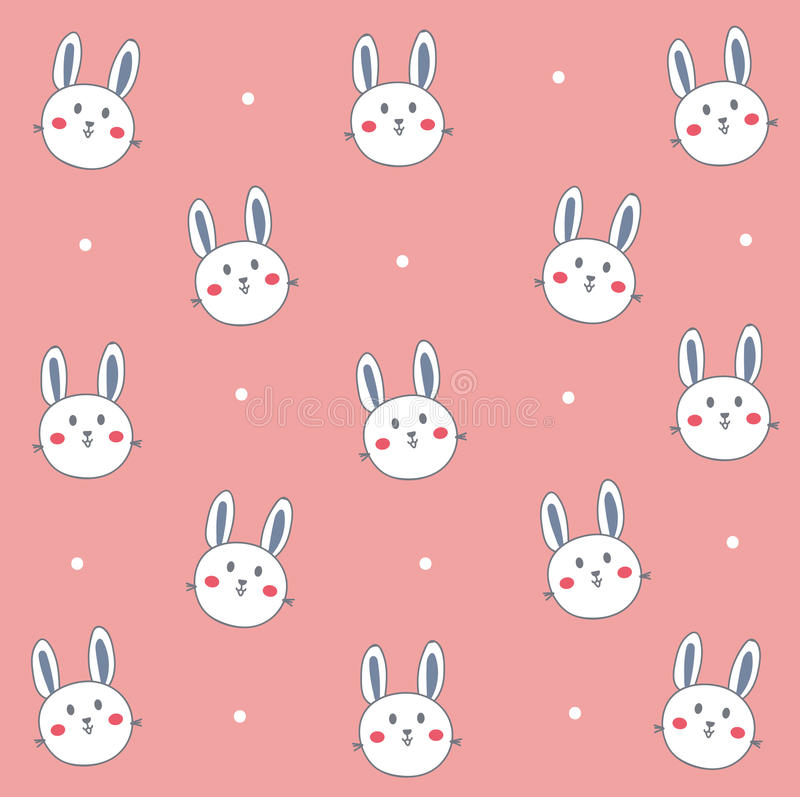 Download Cute White Bunny In Pink Stock Illustration Of Sign