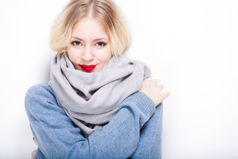 Cute winter fashion girl. royalty free stock photo