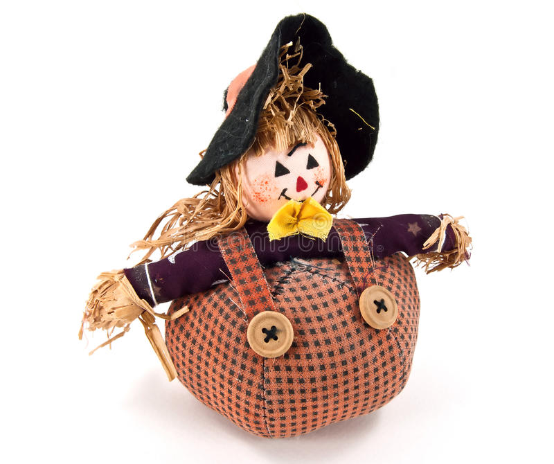 Cute witch doll. A fabric witch doll, handmade stock images