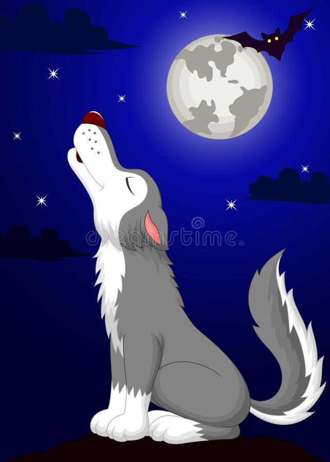 Free Cute Wolf Cartoon Fowling Royalty Free Stock Photography - 39805787