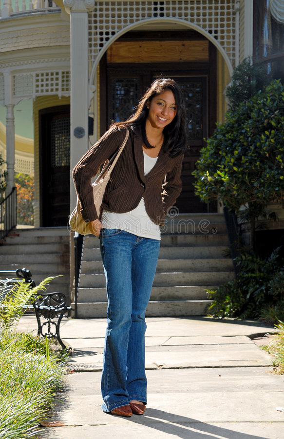 Download Cute Woman At House Royalty Free Stock Photos - Image: 1414938
