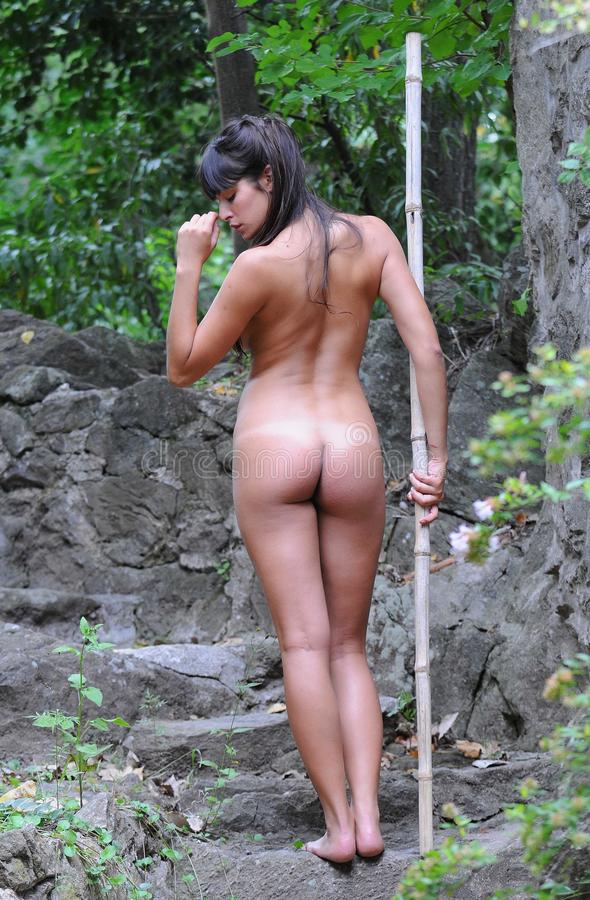 girls naked in woods