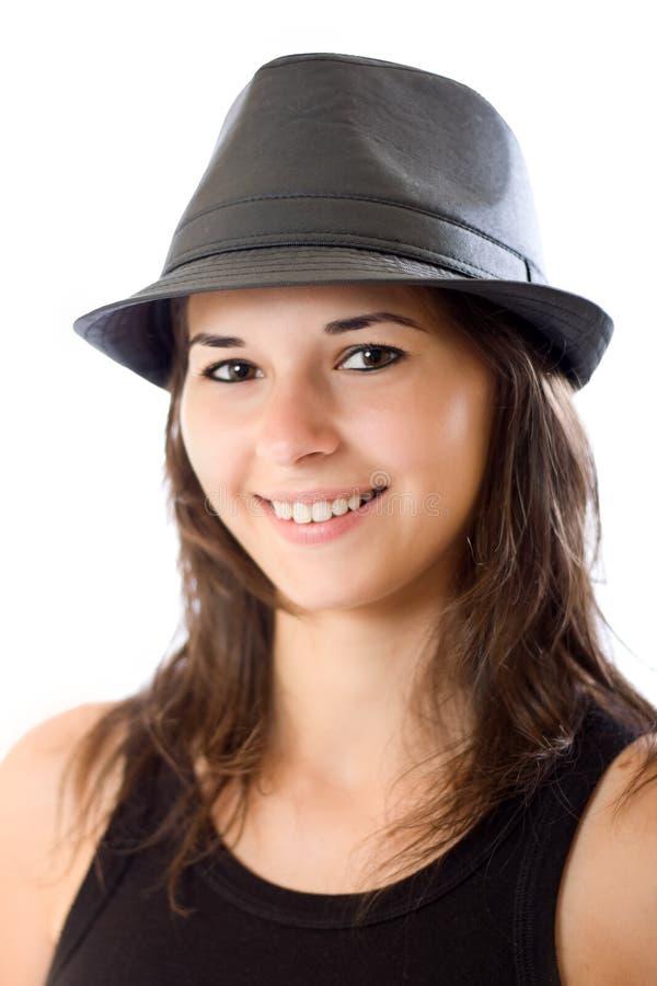 Cute woman portrait stock photos