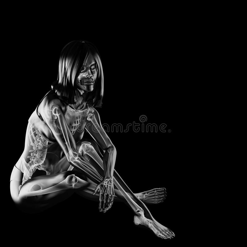 Download Cute woman radiography stock illustration. Image of education - 27453711