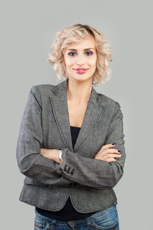 Cute woman smiling. Businesswoman portrait.  stock image