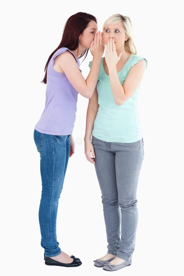 Cute Woman Telling Friend A Secret Royalty Free Stock Image